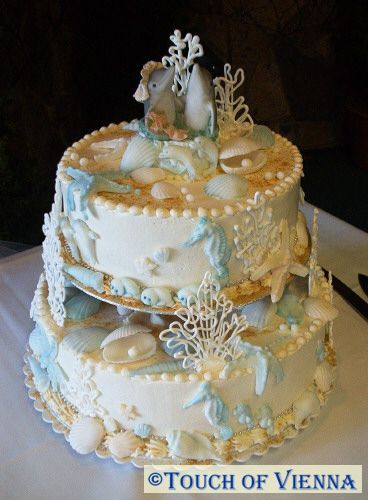 touch of vienna wedding cakes sea shell cake. Black Bedroom Furniture Sets. Home Design Ideas